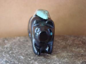 Zuni Indian Hand Carved Jet Bear Fetish! Justin Red Elk