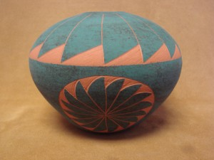 Native American Acoma Indian Pottery Hand Painted Pot by JS Lewis!