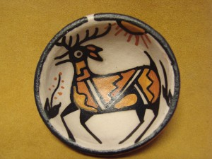 Santo Domingo Kewa Handmade & Painted Deer Bowl By Rose Pacheco!
