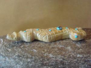 Zuni Indian Hand Carved Dolomite Rattle Snake Fetish! Danette Laate