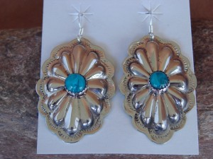 Native American Nickel Silver Hand Stamped Dangle Earrings by Jackie Cleveland