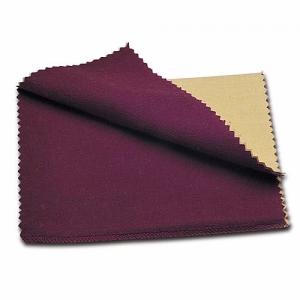 Sterling Silver Jeweler's Rouge Polishing Cloth, 6 by 8-Inch