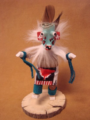 Native American Navajo Indian Handmade Ogre Claw Kachina Dancer! Signed!