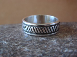 Native American Jewelry Sterling Silver Ring Band by Bruce Morgan! Size 10