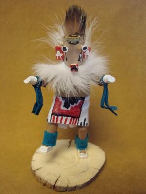 Native American Navajo Indian Handmade Ogre Kachina Dancer! Signed!