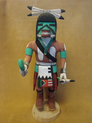 "Hopi Indian Hand Carved ""To-Hu"" Kachina by Elmer Adams! Native American"