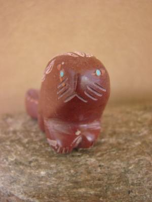 Zuni Indian Hand Carved Pipestone Beaver Fetish by Brandon Phillips!