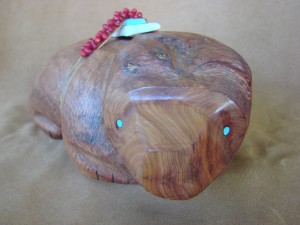 Zuni Indian Hand Carved Large Aromatic Cedar Bear Fetish by Herb Halate!