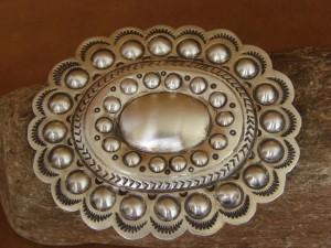 Navajo Indian Jewelry Sterling Silver Belt Buckle Carson Blackgoat