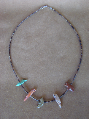 Southwestern Hand Carved Marble Fetish Necklaces! Natural Stones
