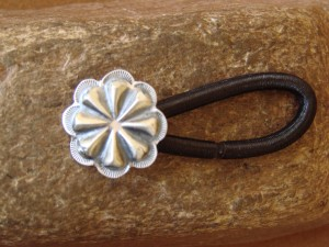 Native American Jewelry Silver Star Concho Hair Tie! Navajo Indian