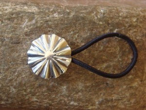 Native American Jewelry Silver Round Concho Hair Tie! Navajo Indian