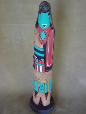 Native American Hand Carved Longhair Shalako Kachina! Navajo Indian