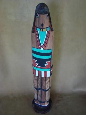 Native American Hand Carved Feather Shalako Kachina! Navajo Indian