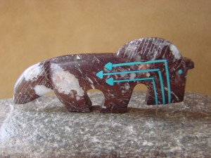 Zuni Indian Hand Carved Horse Fetish by Kenric Laiwakete