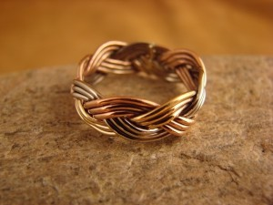 Navajo Indian Hand Made Copper Band Ring by Verna Tahe!, Size 5.5