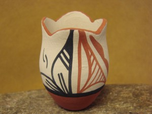 Mini Native American Jemez Pueblo Pottery Clay Pot by Chinana!