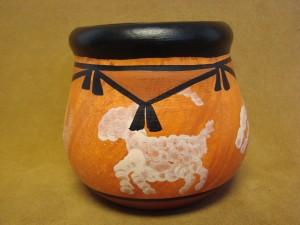 Laguna Pueblo Pottery Hand Painted Pot by West Mountain