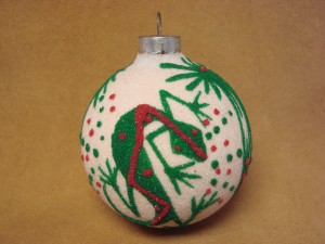 Native American Sandpainting Christmas Ornament! Handmade - Irwin Jim