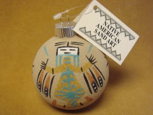 Native American Sandpainting Christmas Ornament! Handmade