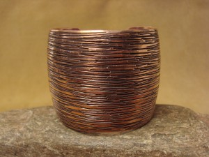 Native American Jewelry Copper Stamped Bracelet by Cody Willie