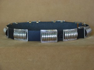 Native American Jewelry Sterling Silver Concho Belt - Thomas Charley