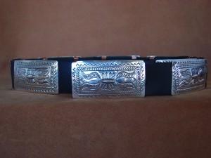 Native American Jewelry Sterling Silver Concho Belt - Carson Blackgoat