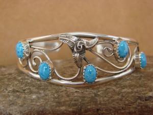 Native American Indian Jewelry Denim Lapis Sterling Silver Bracelet! Navajo