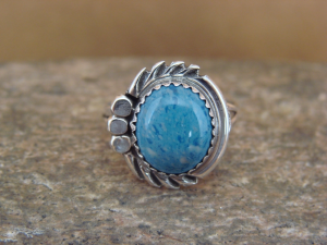 Navajo Indian Jewelry Sterling Silver Denim Lapis Ring Size 6 by Cadman