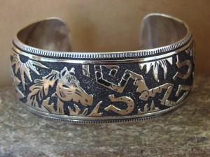 Native American Sterling Silver Horse Bracelet by Richard Singer!