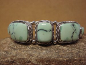 Native American Indian Jewelry Sterling Silver Variscite Bracelet