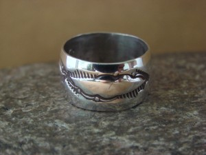 Navajo Indian Jewelry Sterling Silver Band Ring Size 6 by Cadman