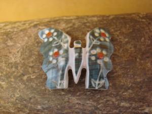 Zuni Indian Hand Carved Butterfly Fetish by Cheryl Beyuka  FF162