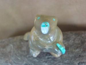Zuni Indian Hand Carved Jasper Beaver Fetish! Enrike Leekya