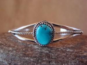 Navajo Indian Turquoise Sterling Silver Bracelet - R. Tom