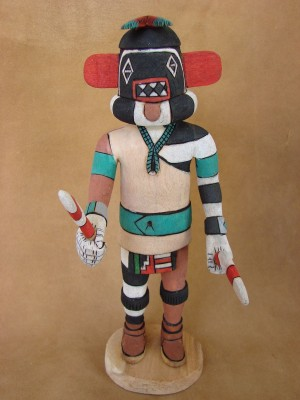 "Hopi Indian Hand Carved ""Left Hand"" Kachina by Elmer Adams! Native American"