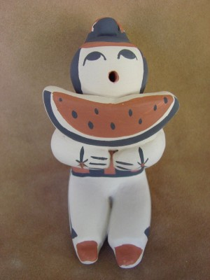 Large Jemez Pueblo Indian Handmade Clay Storyteller by Henrietta Toya Gachupin