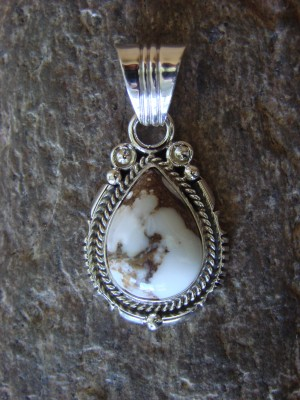 Navajo Indian Sterling Silver Wild Horse Pendant! Daniel Benally
