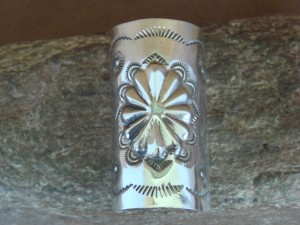 Native American Jewelry Stamped Sterling Silver Ponytail Cover! Soce